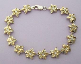 Silver Flowers Sterling Silver Bracelet