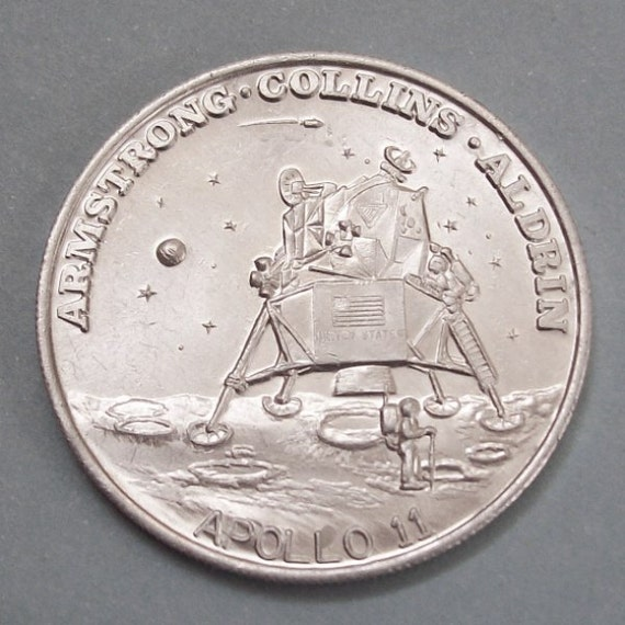 Apollo 11 1969 Commemorative Medal Moon Landing