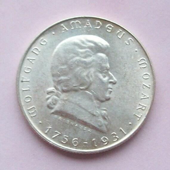 Mozart 1931 Austria Silver Coin Commemorative