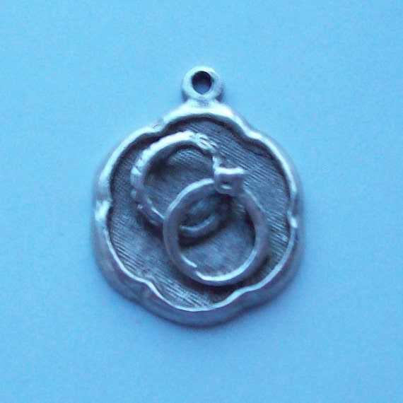 Just Married Sterling Silver Charm