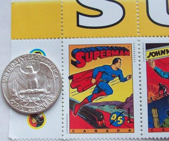 Superman and other Comic Superhero Stamps