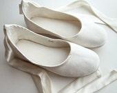 Eco-chic Handmade Vegan Bridal Ballet Flats 902C