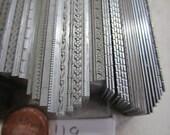 Letterpress Decorative Delicate Strip Rule, Line Rule Bundle. 2pt, 6pt and 12pt, Thick. 119