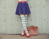 vintage navy high wait skirt