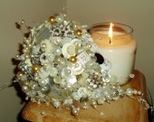 VINTAGE PEARLY BUTTON BOUQUET (CUSTOM PIECE FOR CHELSEAREYNA)