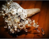 VINTAGE BRIDAL BUTTON AND BEAD BOUQUET PACKAGE FOR AMBERLY23 (DEPOSIT)