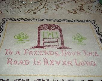 Vintage Cross Stitch Sampler