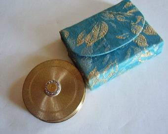Vintage Compact Revlon Turquoise Case