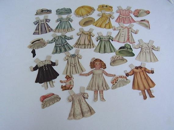 Vintage Paper Dolls Ladies Home Journal 1908