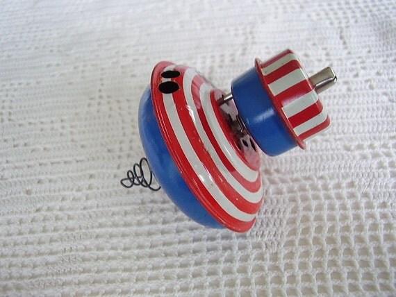 Vintage Toy Top Wind Up Spinning Japan