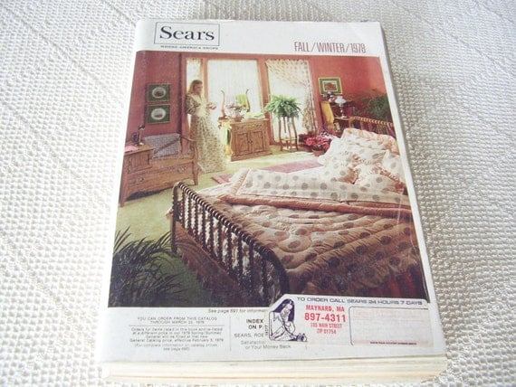 Vintage Sears Catalog Fall Winter 1978