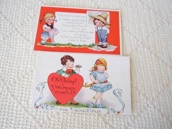 Vintage Valentine Postcards Whitney