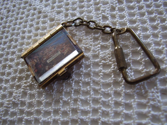 Vintage Key Chain Monaco Photo Souvenir