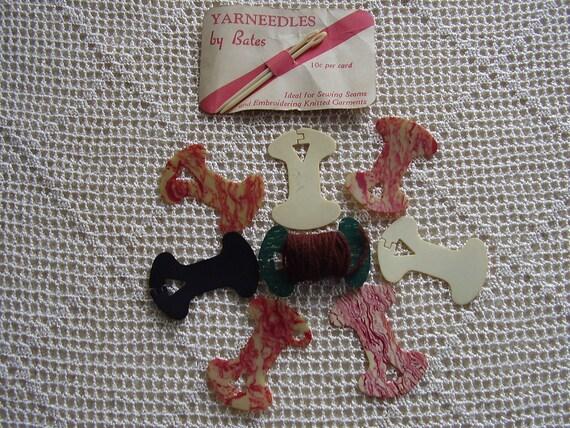 Vintage Yarn Bobbins Thread Winders Bates Needles
