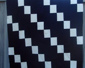 SALE  Wool Quilt or blanket  in Navy and white. Was 130.00 NOW 100.00.