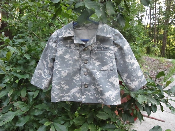 Custom order: Size 2 Children's Military Jacket with Name Tapes