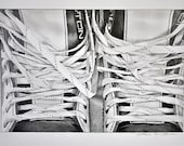 Easton Skates - Print of Original Graphite drawing - Blank Card