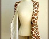 REDUCED.  Vintage Animal Print Vest.  Size S