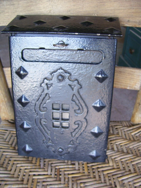 Sale Antique Victorian Cast Iron Mailbox With By Thefunnybunny