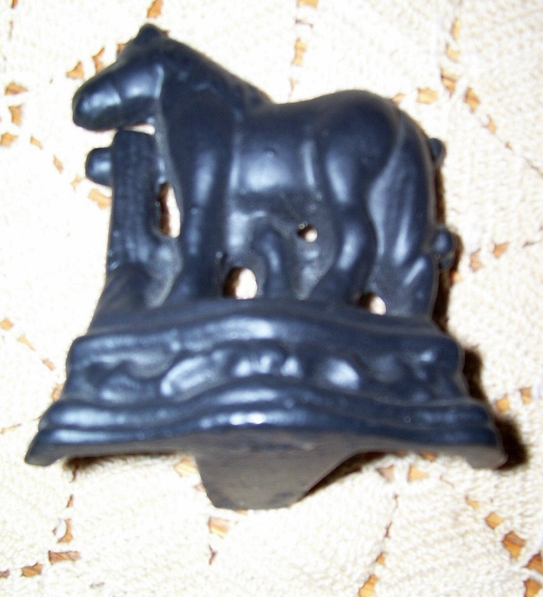 Vintage Cast Iron Miniature Horse Door Stop By Thefunnybunny