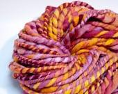 Beyond super bulky yarn, handspun in hand painted merino wool - 40 yards, 3.8 ounces