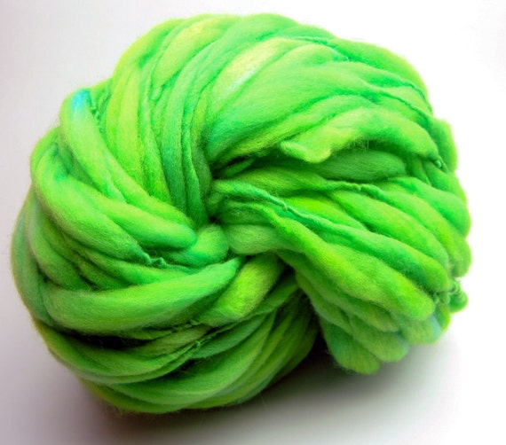 Super bulky handspun yarn in hand dyed merino wool - 55 yards