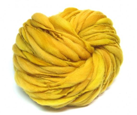 Super bulky handspun yarn spun thick and thin in merino wool - 50 yards, 2.6 ounces/ 76 grams