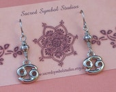 Zodiac Earrings  Cancer Earrings  Astrology  Astrological Jewelry  Sun Sign  Metaphysical Jewelry Under 15 dollars