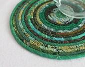 Eco Green Round Coiled Mat by PrairieThreads