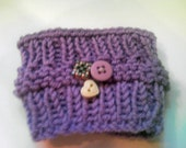 Lilac Knitted Coffee Cup Sleeve