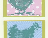 2 Henny Penny Note Cards