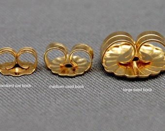 Large backs upgrade - solid 14kt gold, Courtesy listing, large tension backs upgrade, tension backs, gold, for stud earrings, jewelry