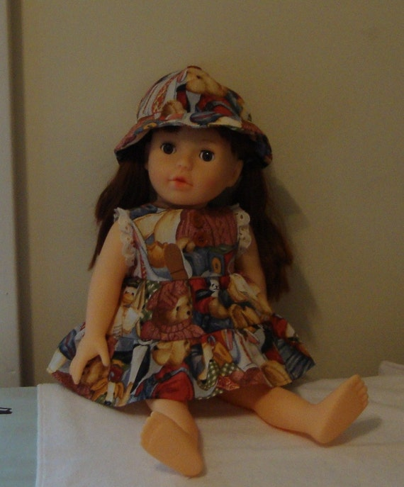 Dress and hat 15 to 16 inch