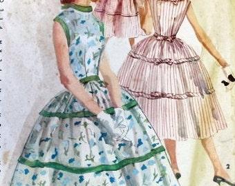 Simplicity Vintage Pattern 1564 - 1950s Rockabilly Dress VLV -  Bust 31 - UNCUT