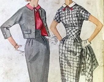 Simplicity Vintage Pattern 2624 - 1950s Mad Men VLV Dress Jacket - Bust 32 - COMPLETE