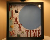 Play Time 12 x 12 shadow box - Great baby shower gift