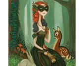 Forester - limited edition woodland giclee print