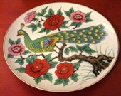 Peacock Plate RESERVED
