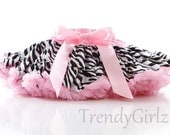TrendyGirlz Zebra and Pink Animal Print Pettiskirt Little Girls - SALE Ready To Ship