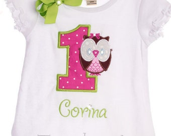 Custom Boutique Personalized Look Whoo's 1 Owl Number Name Birthday Girl Dress Design Your Own
