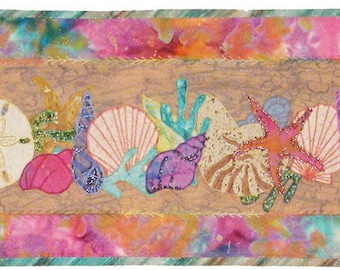 Designer Seashells PDF Machine Applique Pattern by Debora Konchinsky