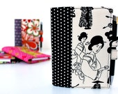 Black and White Little List Keeper, Paper notepad, Organizer wallet, Notepads, Hostess gifts, Teacher gifts, Coupon organizers, Writing pad