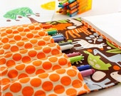 Coloring bag - arts and crafts toy - crayon wallet for kids - 2D Zoo
