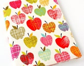 Notebook cover - fabric journal cover for composition notebooks - Apples (Ready To Ship)