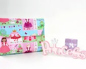 Crayon holder - crayon wallet with crayons and paper included - Princess - Christmas gift idea for kids