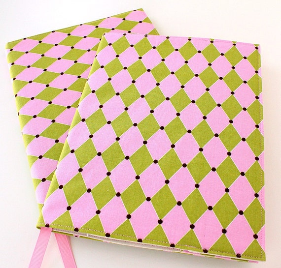 Notebook cover - fabric journal cover for composition notebooks - Diamonds (LAST ONE)