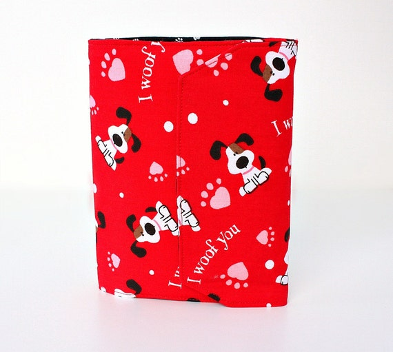Large crayon wallet - travel toy for kids - crayons and paper - I Woof You (LAST ONE) - Cute gifts for kids