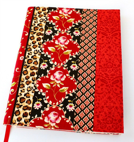 Reusable journal cover for composition notebooks - Wild Roses (LAST ONE)