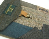 iPad case vintage  green  teal  Eco Friendly  Recycled suit coat