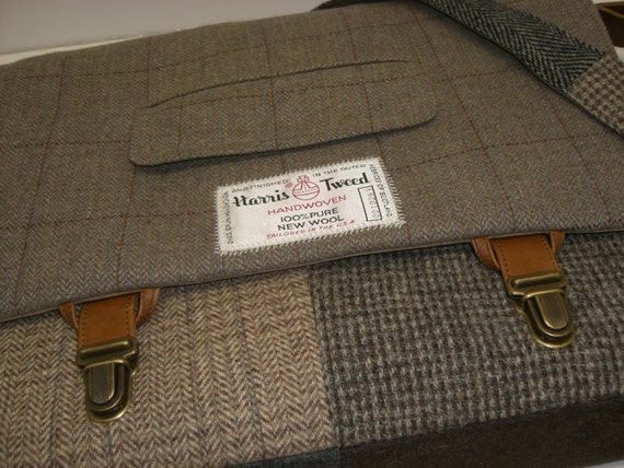 """Custom order for Jeremy 4"""" wide and an iPad case Messenger bag canvas lined Laptop Sleeve  Large Recycled Suit Coat"""
